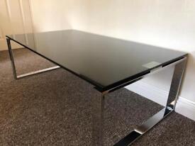 Glass & chrome table