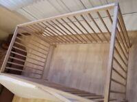 Baby cot wooden
