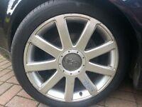 "Genuine audi tt/rs4 wheels 18"""