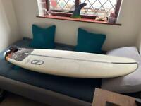 Slater designs omni 5'4 surfboard