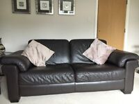 Leather Suite (3 Seater Sofa, 2 Armchairs and Ottoman)