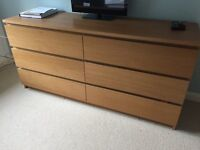 Malm Double Chest of Drawers