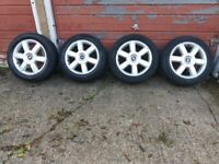 FORD FOCUS ALLOY WHEELS WITH TIRES.205/55 R16