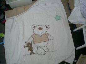 Love my Bear Cotbed Throw