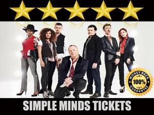 Discounted Simple Minds Tickets  | Last Minute Delivery Guaranteed!