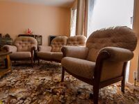 David phipps cottage style 3 piece suite in excellent condition
