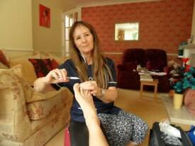 Foot Care Practitioner qualified and experienced to cut thick toenails, etc. Professional service.
