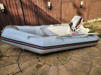 Pro-Marine RIB SIB Tender Boat Inflatable Dinghy Johnson 6hp Outboard Fuel Tank
