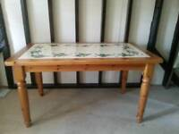 Wooden dinning table with x6 chairs