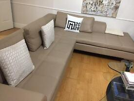Dwell Beige Two Piece L Shaped Sofa