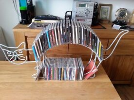 COLLECTABLE/ART DECO/ANTIQUE HAND MADE CONTEMPORARY METAL CD/DVD DISPLAY STORAGE, CAT DESIGN, £29