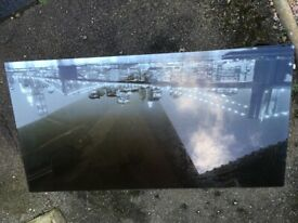 New York Skyline glass coffee table