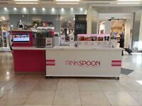 RUNNING KIOSK BUSINESS FOR SALE - FROZEN YOGURT, CREPES, WAFFLE, SMOOTHIE, MILKSHAKE, SLUSH, COFFEE