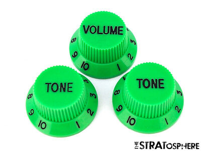 *NEW CONTROL KNOBS for Fender Standard Stratocaster Strat Guitar Parts Green