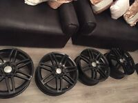 "Audi rs4 alloys x4 gloss black 18"" original"