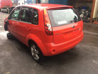 BREAKING - FORD FIESTA MK6 - REAR BUMPER RED - ALL PARTS AVAILABLE