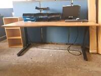 Modern waved office desk with fitted power points (many in stock)