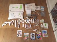 Nintendo wii gaming console bundle