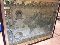 Picture Moses Pitt Gold foil map print