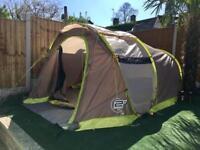 Huge 13ft long Quechua 3 Man POP Up Tent with separate bedroom tent. Big living Space. VGC