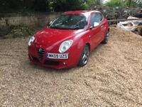 2009 Alfa Romeo Mito Veloce 95 1.4L Petrol 95,000 Red