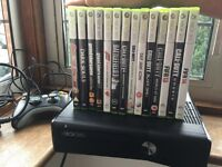 Xbox 360 plus selection of games