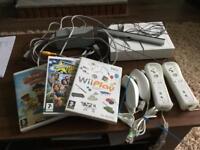 Wi console+accessories + 3 games