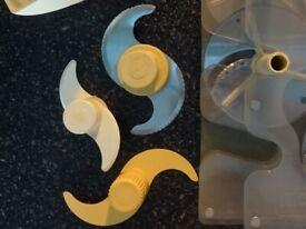 Vintage Magimix blades, vintage cookware. Food processor