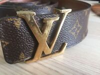 Genuine Louis Vuitton monogram luxurius mens leather belt 38/95, RRP £450 priced to sell