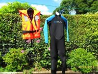 Child's Wetsuit and Bouyancy Aid.