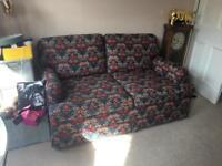 Liberty/ William Morris style print sofa bed
