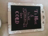 4 chalkboard wedding signs