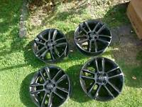 Corsa limited edition alloy wheels 17 inch black gloss 4 stud.