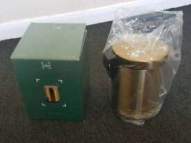 Bathroom pedal bin and free stand mirror