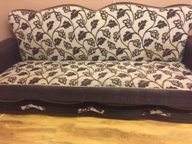 2 Brown bed sofas and storage sofa