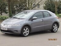 HONDA CIVIC 1.8 SE I-VTEC 6 SPEED 5 DOOR LONG MOT GOOD SERVICE HISTORY 8 STAMPS FULL LEATHER