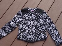 SUPER SMART girls jacket from F&F really stylish and as new cond age 5-6 yrs.
