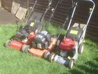 PETROL MOWERS TWO SELFPROPELED AND ONE PUSH £40 AND £35