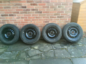 Steel wheels (6jx15) and winter tyres (195/65 R15) from Mk2 Octavia