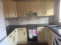 Kitchen units, worktops and sink