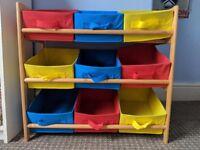 Children's storage rack