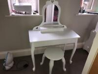 GLTC dressing table and stool