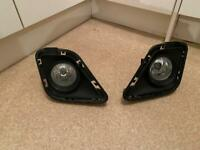 Toyota Verso-S 2011 Fog Lights Pair L&R Sides With Covers Genuine