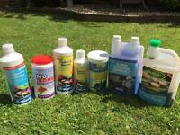 Pond Health, NT Labs Testing kit and other pond chemicals job lot