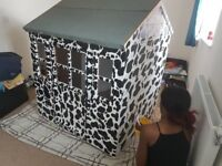 Cow print play house
