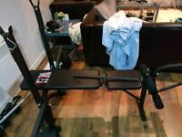 Reclining bench + bench bar + 40 kilos