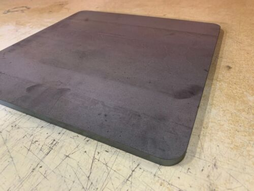"""1/4"""" x 14"""" x 18.25"""" Pizza Steel Plate, Rounded Corners A36 Steel, 0.25"""" Thick"""