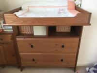 IKEA changing table/chest of drawers