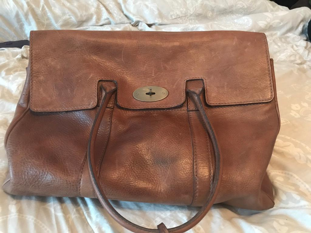 Leather Mulberry Piccadilly Tan Travel Weekend Bag