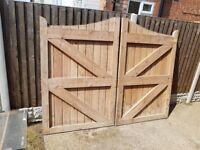 DOUBLE GATED WOODEN DOORS